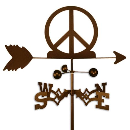 SWEN Products Inc Handmade Woodstock Peace Sign Symbol Weathervane
