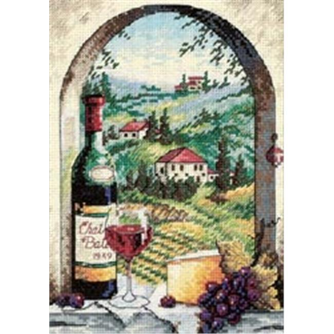 277202 Gold Collection Petite Dreaming Of Tuscany Counted Cross Sti-5 in. x 7 in.