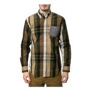 Staple Mens The Joyner LS Button Up Shirt, Green, Medium