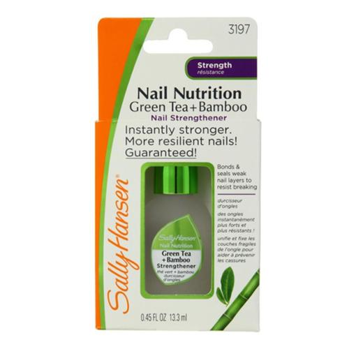 Sally Hansen Nail Nutrition Nail Strengthener, Green Tea + Bamboo [3197], 0.45 oz (Pack of 3)