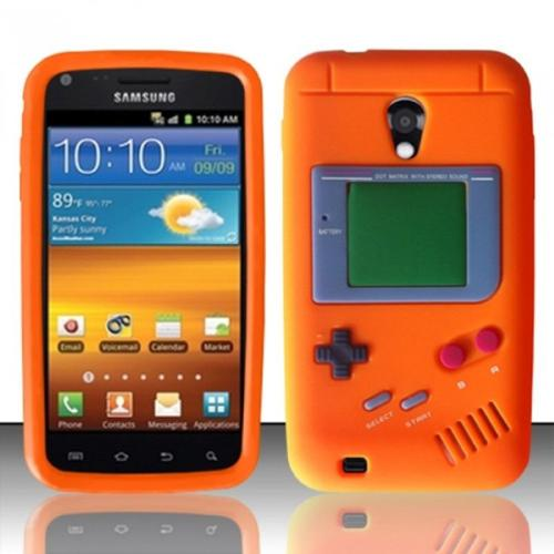 Insten For Samsung Epic Touch 4G D710 / Galaxy S2 Gameboy Silicone Skin Case - Orange