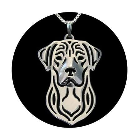 Labrador Retriever Sterling Silver Puppy Dog Pendant Box Chain Necklace Ginger Lyne -
