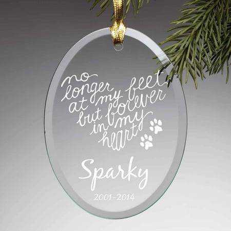 Personalized Glass Ornament - Forever In My Heart Pet