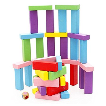 Lewo Wooden Stacking Board Games Building Blocks for Kids - 48 Pieces - image 4 of 4