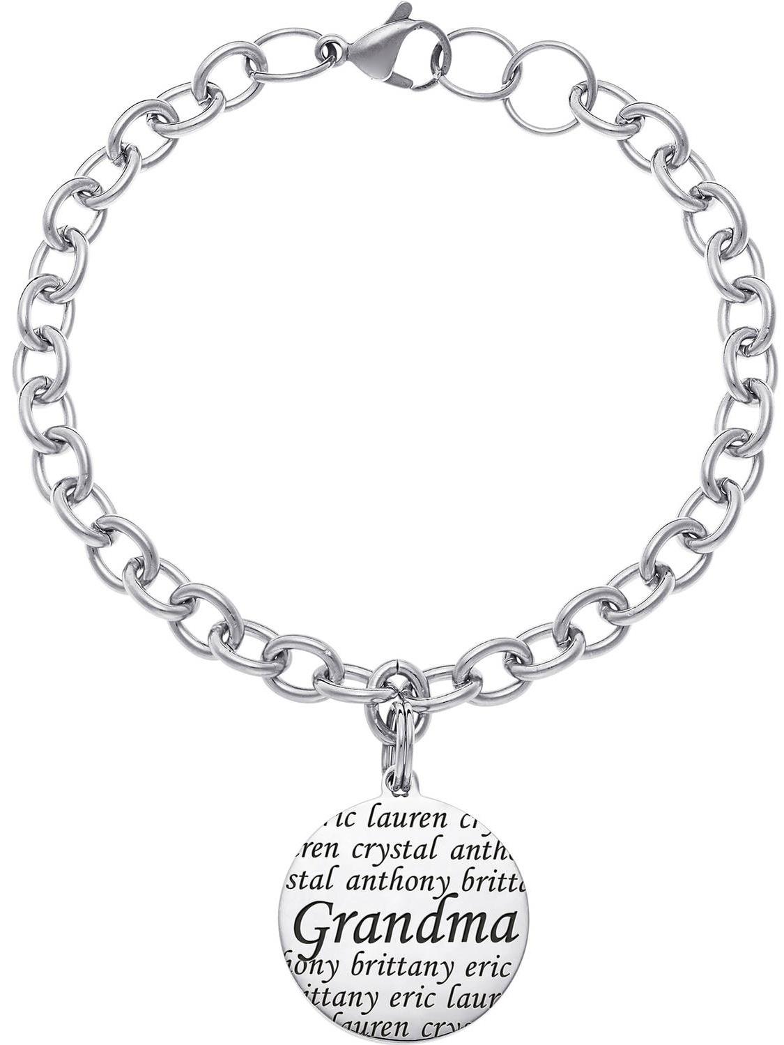Personalized Everscribe Grandma Stainless Steel Name Bracelet