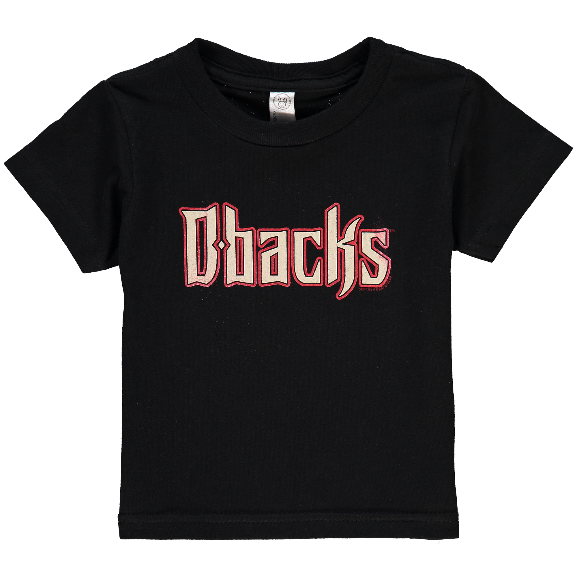 Arizona Diamondbacks Soft as a Grape Infant Wordmark T-Shirt - Black