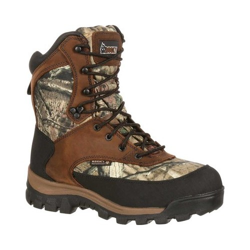 "rocky outdoor boots mens 8"" wp insulated brown mossy oak fq0004755"