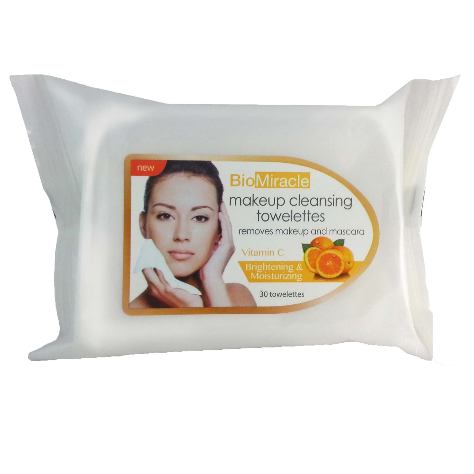BioMiracl Towelettes, Vitamin C, 30 Ct Palmers Cocoa Butter Formula Gentle Facial Cleansing Wipes (Pack of 3/ 25wipes Each), Dual texture, Moisturizing! By Palmers