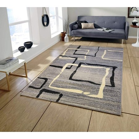 Area Rugs for Living room Area Rugs Clearance (Grey) Contemporary Design  Runner Rug 2x5