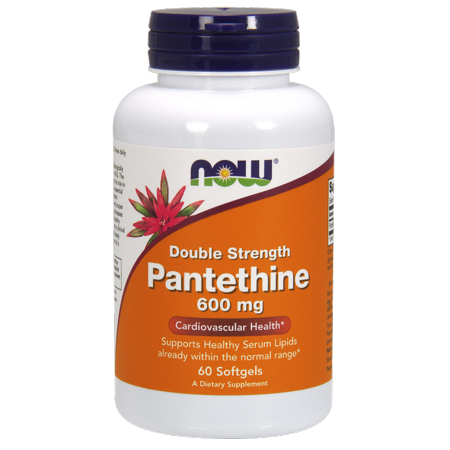 NOW Pantethine Cardiovascular Health, 600 mg, 60 Ct