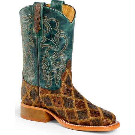 Anderson Bean Boys Patchwork Angy Bird Cowboy Boot Square Toe   K1075