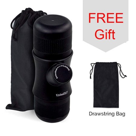 KitchenPRO Mini Portable Handheld Espresso Coffee Maker with Carrying Bag-Portable for