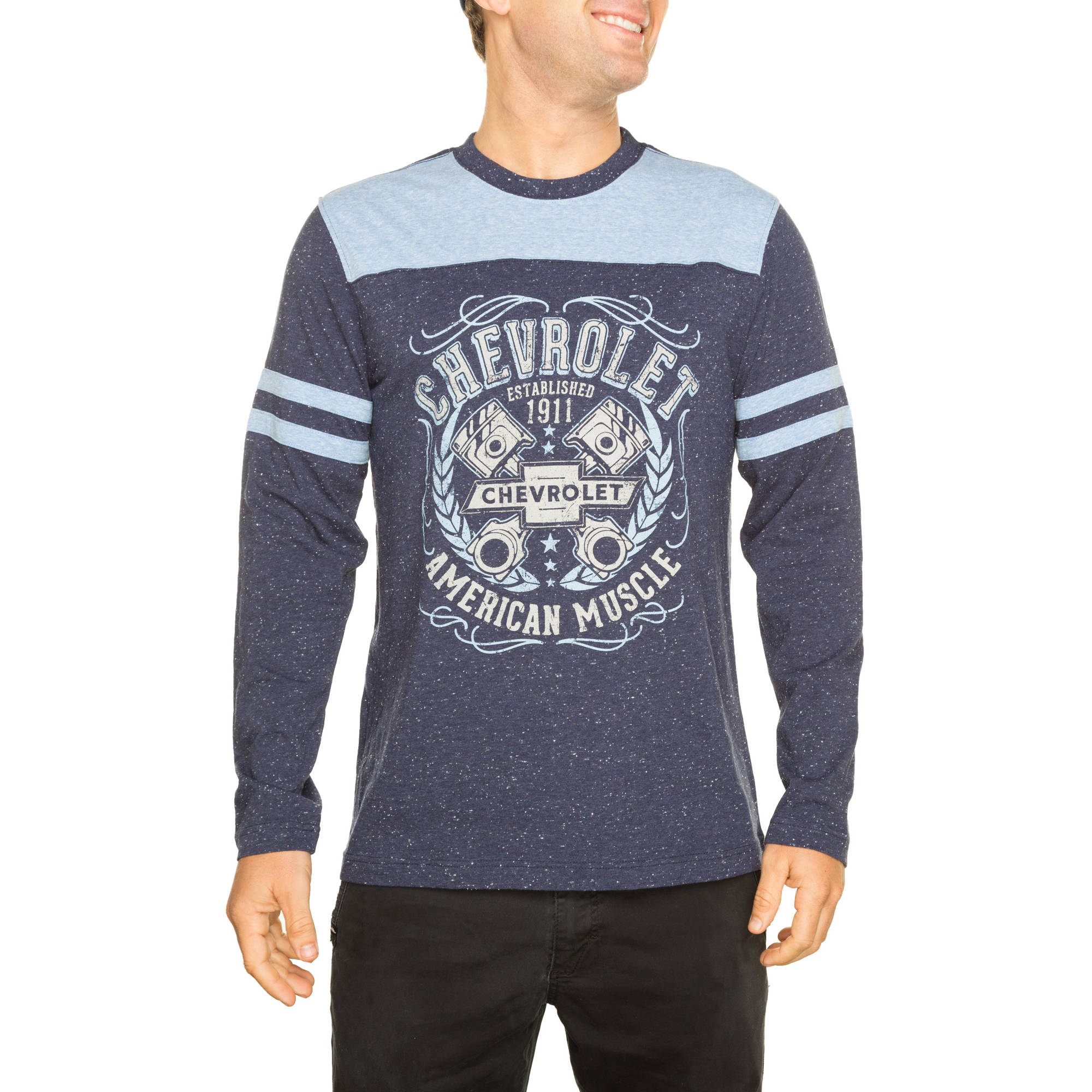 General Big Men's Long Sleeve Graphic Football Tee, 2XL