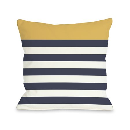 Nautical Stripes - Mimosa 18x18 Pillow by OBC
