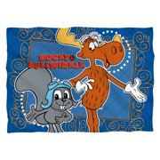 Rocky & Bullwinkle Framed Friends (Front Back Print) Poly 20X28 Pillow Case White One Size