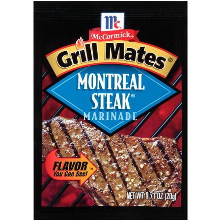 (4 Pack) McCormick Grill Mates Montreal Steak Marinade Mix, 0.71