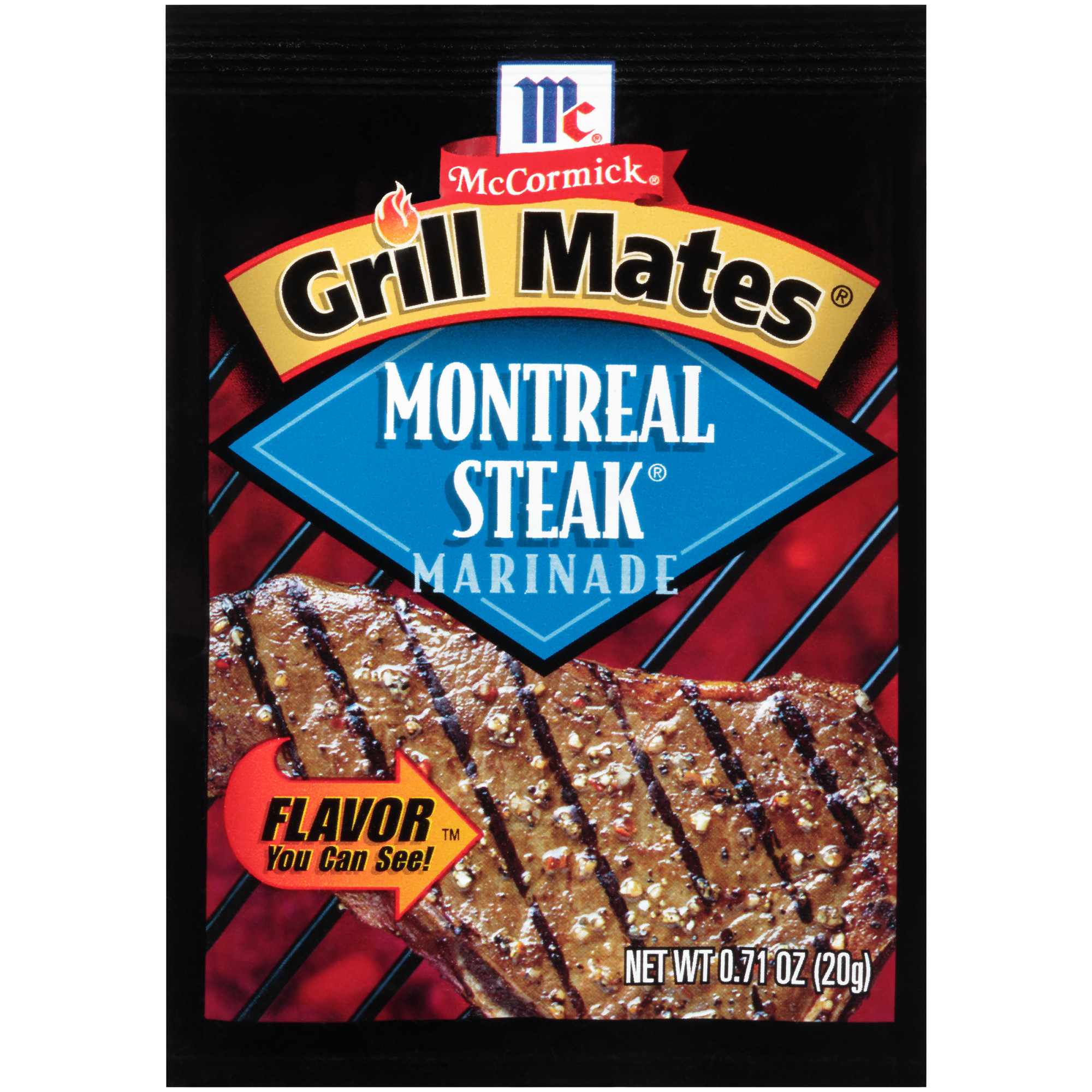 McCormick Grill Mates Montreal Steak Marinade Mix, 0.71 oz