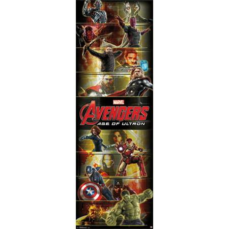 Poster - Marvel - Avengers - Team Movie (Door Size 21x62