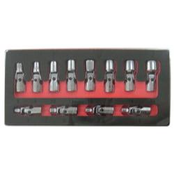Astro Pneumatic Tool 7412 12-Piece 1/4-Inch Drive Flex Socket Set - 6 Point - Metric