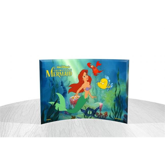 The Little Mermaid (Ariel, Flounder and Sebastian) StarFire Prints Curved Glass by FilmCells