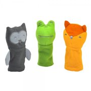 green sprouts Finger Puppets made from Organic Cotton 3 Count