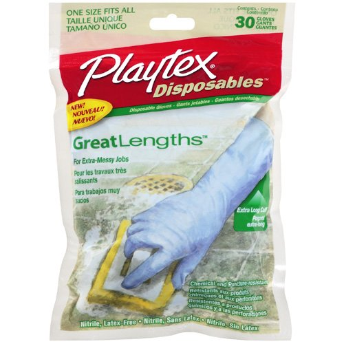 Playtex Great Lengths Disposable Gloves, 30ct
