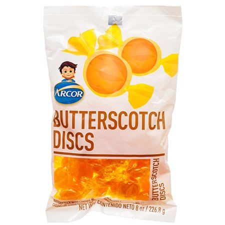 New 374058  Arcor Butterscotch Discs 8 Oz (24-Pack) Candy Bag Cheap Wholesale Discount Bulk Candy Candy Bag Audio/Video