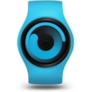 Unisex Gravity Ocean Plastic Watch - Blue Rubber Strap - Blue Dial - Z0001WBL