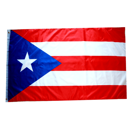 3x5 Foot Puerto Rico Flag Double Stitched Puerto Rican Flag with Brass Grommets | 3 by 5 Foot Premium Indoor Outdoor Polyester Banner