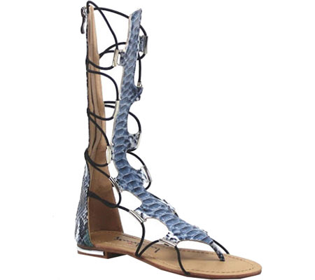 Luichiny Shoes Crown Me Black Gladiator Sandals~Black   6 by
