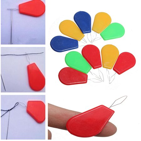 10Pcs Bow Wire Stitch Insert Plastic Craft Tool Sewing Machines Needle Threader for $<!---->