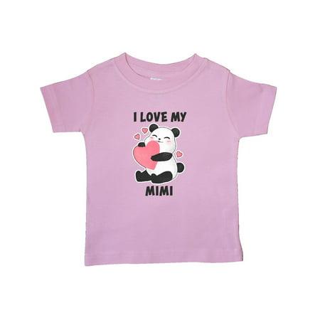 I Love My Mimi with Panda Illustration Baby T-Shirt](Panda Pajamas)