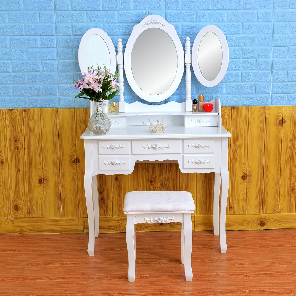 Clearance Makeup Vanity Table With Mirror Vanity Set