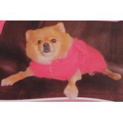 Cozy Pink Dog Blanket, Stretchable, Comfortable for your pet to keep it warm, Product Size: 32.67x21.25x8.23