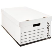 Universal Lift-Off Lid File Storage Box, Legal, Fiberboard, White, 12/Carton