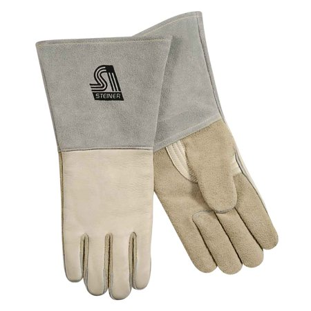 - Steiner 6502 Premium Grain Cowhide Stick Welding Gloves ThermoCore Foam Lined Back X-Large
