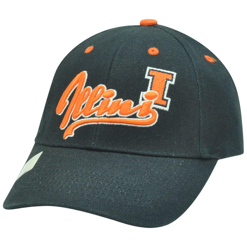 NCAA Illinois Fighting Illini Cotton Adjustable  Script Construct Hat Cap