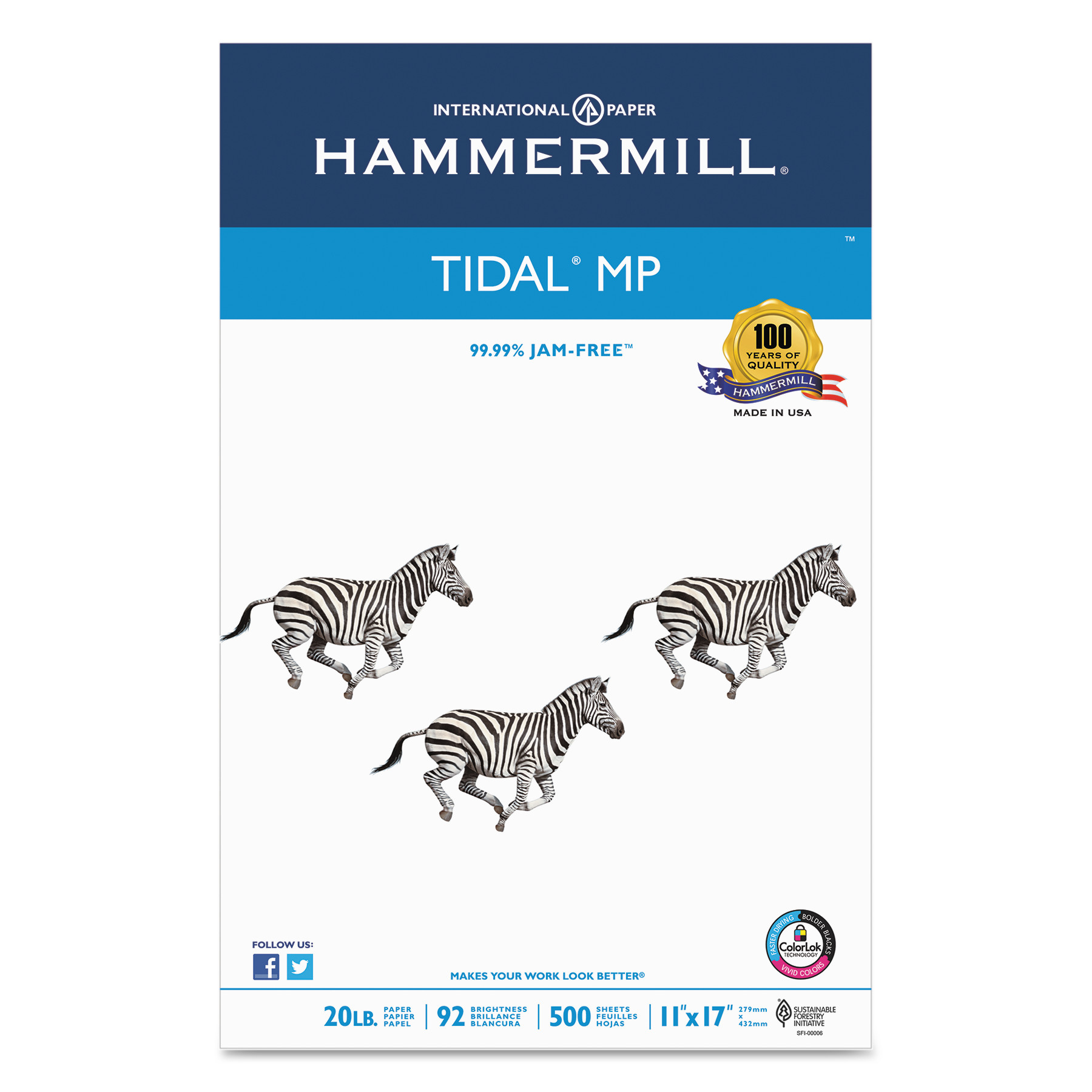Beautiful Hammermill Tidal MP Copy Paper, 92 Brightness, 20lb, 11 X 17, White, 500  Sheets/Ream   Walmart.com