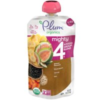 Plum Organics Mighty 4 Blends Guava, Banana, Black Bean, Carrot, Oat, 4oz