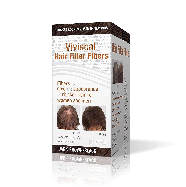 Hair Filler Fibers, Dark Brown Viviscal - 0.53 Ounce