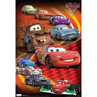 Cars 2 Group Movie Poster - 13x19
