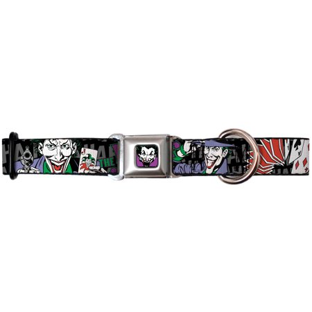 Joker DC Comics Supervillain Retro Wild Cards Seatbelt Fun Pet Dog Cat Collar - Joker Dog