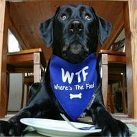 Heads Up for Tails HUFTAC188 WTF Dog Bandana, Small