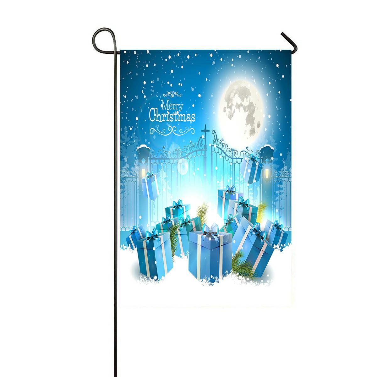 Eczjnt Christmas Gifts Snow Open Gate Outdoor Flag Home Party Garden Decor 12x18 Inch Walmart Com Walmart Com