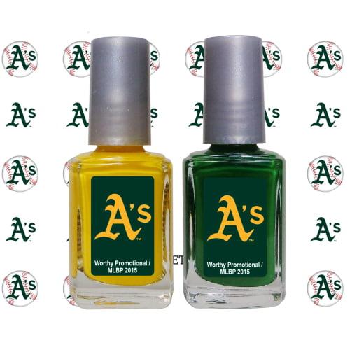 Oakland Athletics 2-Pack Nail Polish with Nail Decal - No Size