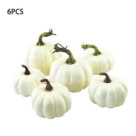 6Pcs Creative DIY Foam Pumpkin Mini Pumpkin Halloween Party Garden