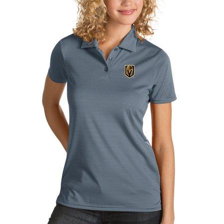 reputable site fa86a 7a04c Vegas Golden Knights Antigua Women's Quest Desert Dry Polo - Gray