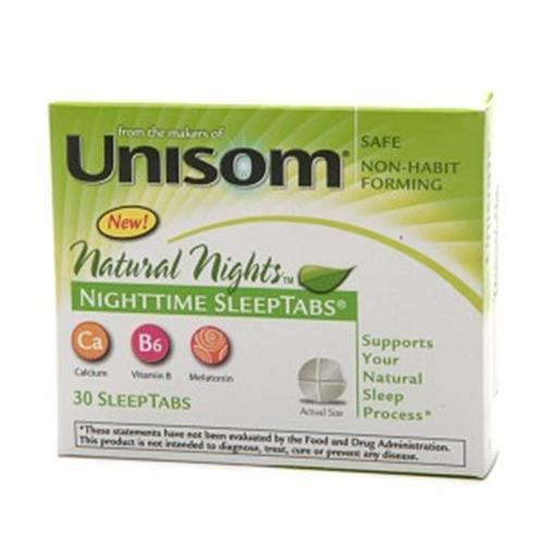 Unisom Natural Nights SleepTabs 30 Tablets (Pack of 2)