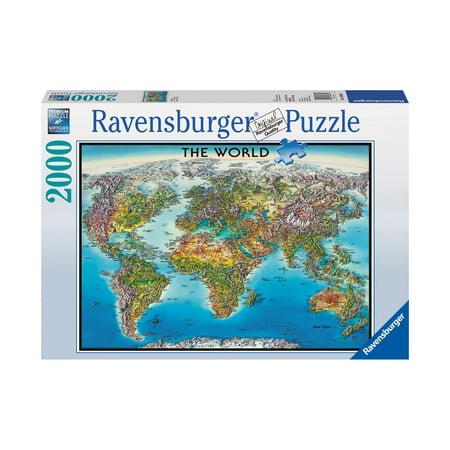 World Map: 2000 Pcs