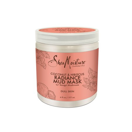SheaMoisture Coconut & Hibiscus Radiance Mud Mask Sulfate-Free, 6 oz